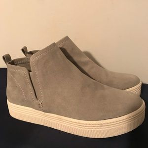 NEW DOLCE VITA TATE GREY SUEDE SNEAKERS SZ 9.5!